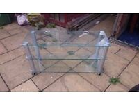 Glass TV stand perfect condition £10
