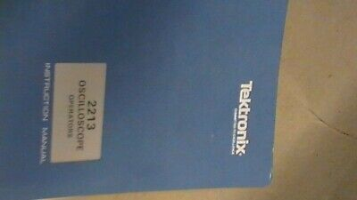 Tek Tektronix 2213 Oscilloscope Operatiors Instruction Manual
