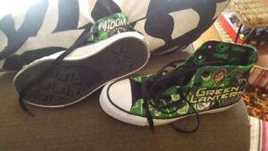 Green Lantern converse shoes boys size 5
