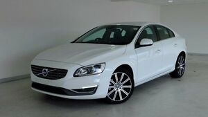 2014 Volvo S60 F Series MY14 T5 PwrShift Luxury White 6 Speed Sports Automatic Dual Clutch Sedan Hobart CBD Hobart City Preview