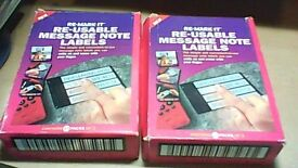 TWO NEW BOXES OF RE-MARK IT RE-USABLE MESSAGE NOTE LABELS
