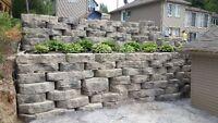 Retaining walls, Natural Stone and Man Made Stone,