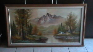 Large S Edward Oil On Canvas Kitchener / Waterloo Kitchener Area image 1