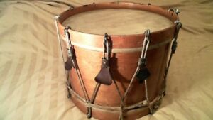 """Antique rope tension marching snare drum 13""""x 16"""""""