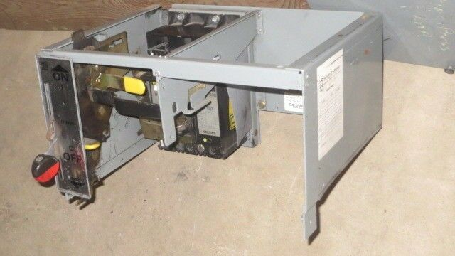 """SQUARE D 8"""" MCC FEEDER BUCKET WITH 15 AMP FHP MAG-GARD BREAKER"""