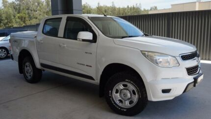 2013 Holden Colorado RG LX (4x4) White 6 Speed Automatic Crew Cab Pickup Port Macquarie Port Macquarie City Preview