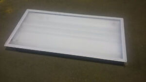 3 Lamp T8 Fluorescent Light Fixtures - NEW IN BOX!