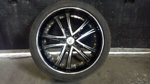 Black Lexani rims with 255/35 R20 tires