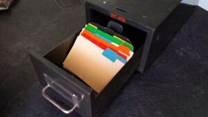 Metal Industrial Index Card File Cabinet