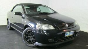 2004 Holden Astra TS MY03 Carbon Black 5 Speed Manual Convertible Derwent Park Glenorchy Area Preview