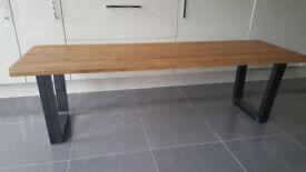 John Lewis Calia 3-Seater Oak Dining Bench