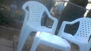 Plastic chairs & Table