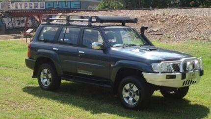 2008 Nissan Patrol GU 6 MY08 ST-L Blue 4 Speed Automatic Wagon