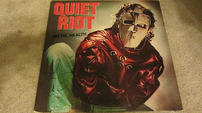 Rudy Sarzo Signed Quiet Riot Mental Health Lp Album Cover Signed Autograph