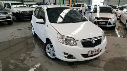2011 Holden Barina TK MY11 White 5 Speed Manual Hatchback Murarrie Brisbane South East Preview