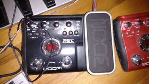 Pedals, Zoom G2.1U and Zoom A2 Acoustic