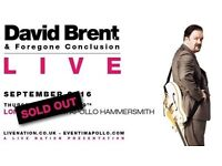 David Brent Foregone Conclusion Tickets x 2