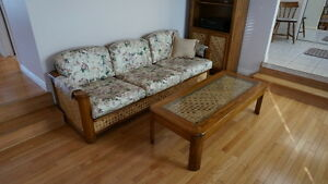 LIving Room Set- 8 Piece Oak furniture