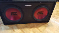 MTX TC512 dual 12in 1200rms Subwoofer with amp MTX Thunder421D