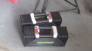 Pair of Power Block Classic Elite 90lbs Set - W or WO Stand