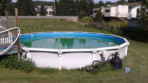 24' Above Ground pool + all accessories - FIXED PRICE