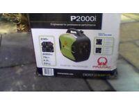 pramac p2000i petrol inverter generator brand new never been used.