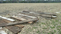 Flooring and beams from 1889 barn (Ingersoll area)