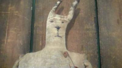 Handmade Rabbit (Primitive Antique Handmade Early Bunny Rabbit Doll   Easter )