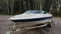 Bayliner 17.5 ft with trailer open bow