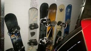 Snowboard and bindings KIDS TO ADULT SIZES