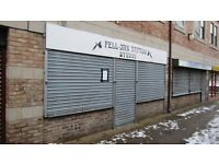 455 sq ft shop with upstairs space, available for immediate let / sale Only £80 per week, incentives