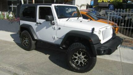 2012 Jeep Wrangler JK MY12 SPORT 4X4 White 6 Speed Manual Softtop Homebush Strathfield Area Preview