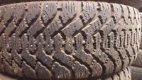4 of 215 55 R17 Goodyear Nordic winter tires for sale