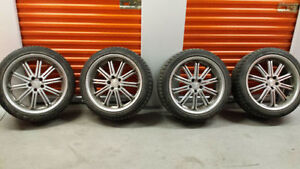 4 19inch  Winter Tires, LIKE NEW on Rims! JAGUAR XF FORD FUSION