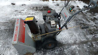":Electric start 8Hp 25"" self propelled craftsman snowblower"