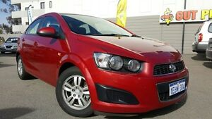 2012 Holden Barina TM Red 6 Speed Automatic Sedan Victoria Park Victoria Park Area Preview