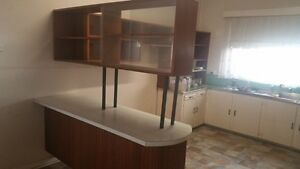 Retro Kitchen Island Bench and Kitchen Shelves Bayswater Bayswater Area Preview