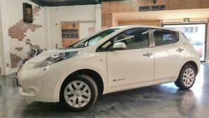 2014 Nissan Leaf ZE0 Pearl White Reduction Gear Hatchback Perth Perth City Area Preview