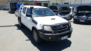 2010 Toyota Hilux KUN26R MY11 Upgrade SR (4x4) Glacier White 5 Speed Manual Dual Cab Chassis Maddington Gosnells Area Preview