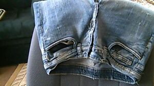 2 pairs of jeans, 5.00 each