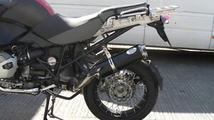 BMW R1200GS ADVENTURE (2010-2013) black oval twin outlet Road Legal MTC Exhaust