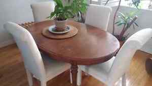 Wood dining room set with chairs