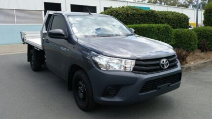 2015 Toyota Hilux GUN122R Workmate 4x2 Graphite 5 Speed Manual Cab Chassis Acacia Ridge Brisbane South West Preview