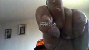 ladies diamond gold ring 10k and mans gold ring 10 k