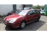 2005 Citroen C5 diesel estate, starts and drives, being sold as spares or repair due to high mileage