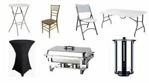 Party & Event Rental- Chairs,Tables,Linen, chafing dish