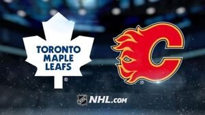 2 lower bowl seats for Toronto Maple Leafs versus Calgary Flames