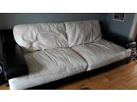 Free 3 seat leather sofa,