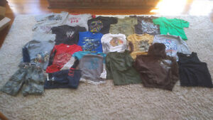 Large lot of boys size 8 clothes