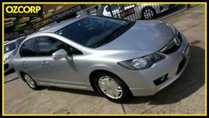 2008 Honda Civic MY07 Hybrid Silver Continuous Variable Sedan Homebush Strathfield Area Preview